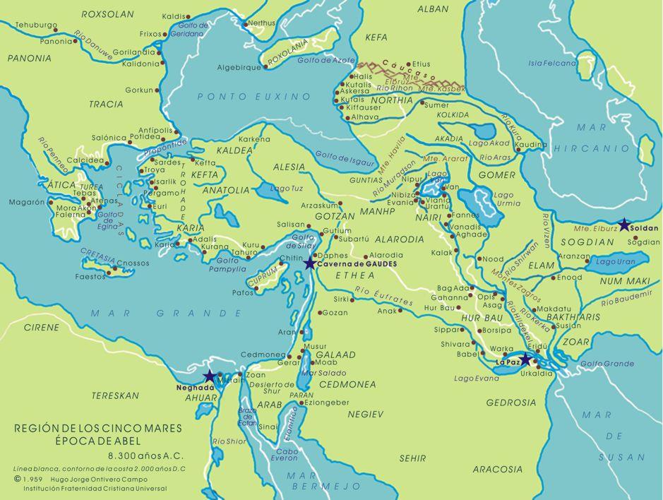 mapa mares Mapa de la región de los Cinco Mares mapa mares